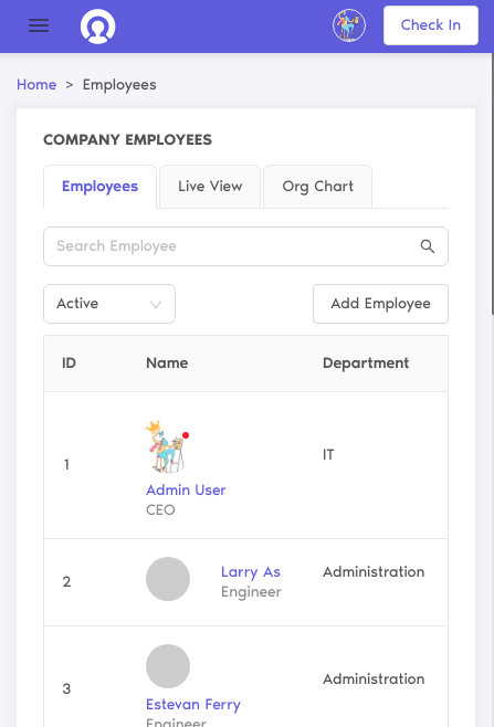 employee management feature cutehr