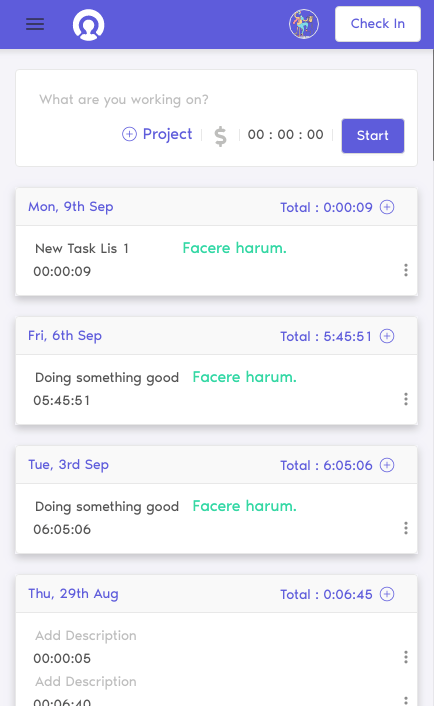 free time tracker feature cutehr