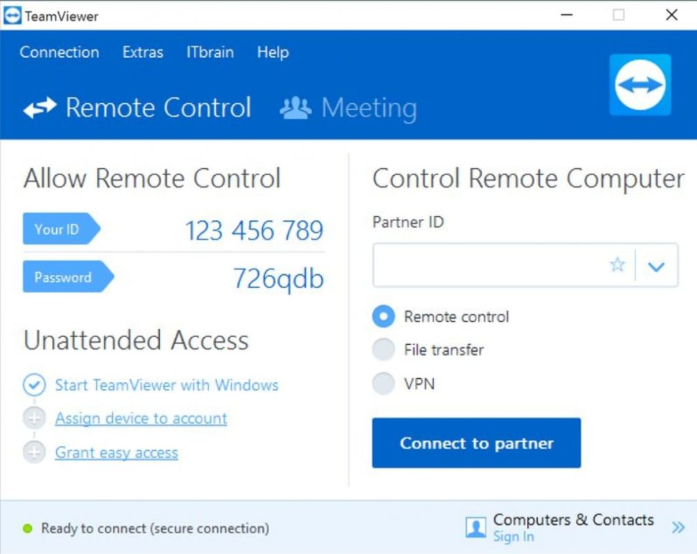 teamviewer work from home remote working tools