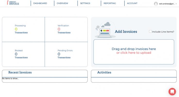 Innovo Invoice dashboard