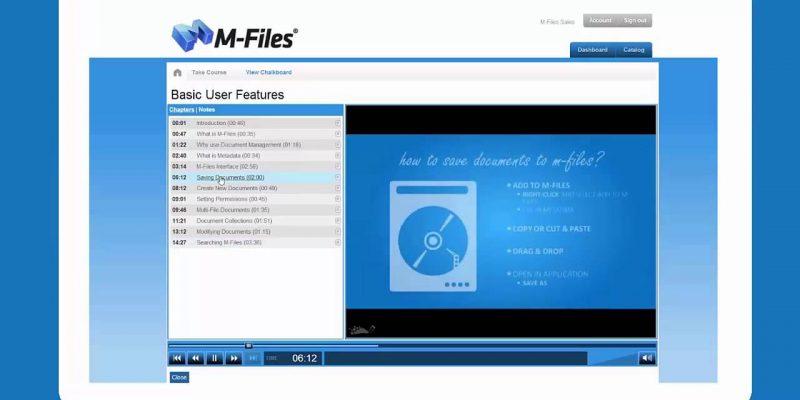 M-Files dashboard