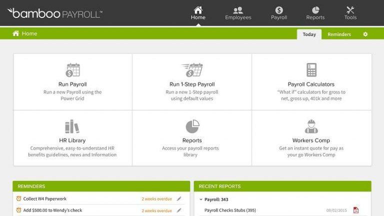 bamboohr payroll dashboard